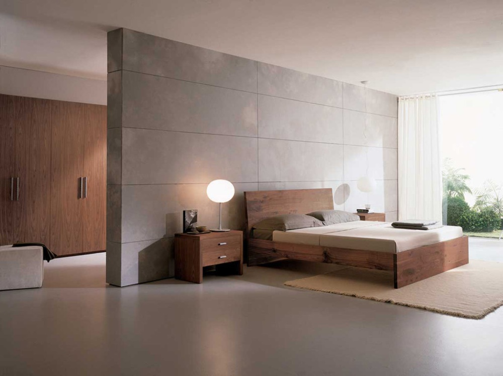 Clean-minimalist-bedroom-with-accent-wall