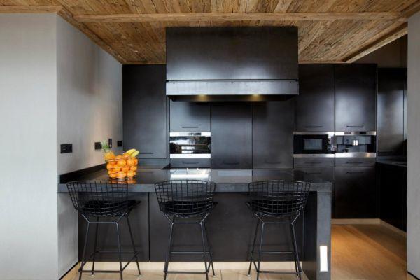 black-contemporary-kitchen