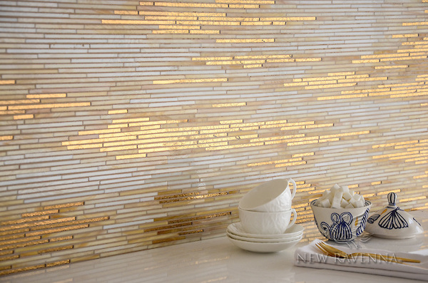 Reve, a jewel glass mosaic, is shown in Gold Glass, Agate, and Quartz.